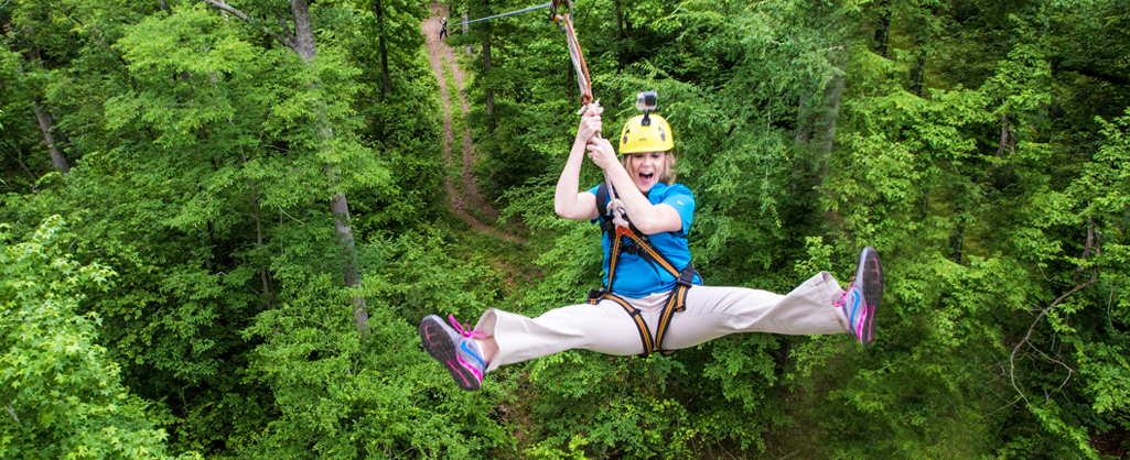 Ziplining is fun for all ages. Wouldn't you like the thrill of flying through the treetops?